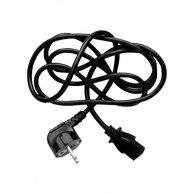 Kabel sieciowy 230V łączący, CEE7 (widelec)-C13, 2m, VDE approved, Logo, 5 pack, cena za 1 szt.