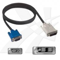 Video Kabel DVI(18+5)-VGA(D-sub), M/M2m, No Name