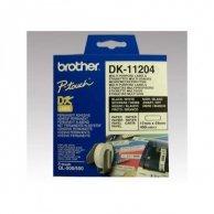 Brother etykiety papierowe 17mm x 54mm, biała, 400 szt., DK11204, do drukarek typu QL