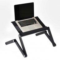 Podstawa pod notebook, czarny, aluminiowo-plastikowa, 10 nośność, No Name
