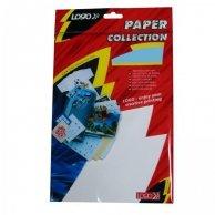 Logo etykiety na CD 118/41mm, A4, połysk, białe, 2 etykiety, 2 paski, 160g/m2, pakowany po 10 szt., do drukarek atramentowych