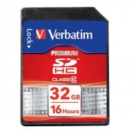 Verbatim Secure Digital card (SDHC), 32GB, SDHC, 43963, high speed Class 10, do archiwizacji danych