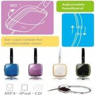 Genius, GHP-420S, słuchawki, fioletowy, 3.5mm konektor