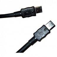 FireWire kabel IEEE 1394, 6pin-6pin, M/M, 2m, No Name