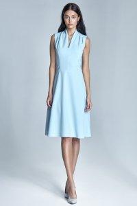 Błękitna sukienka damska - S74