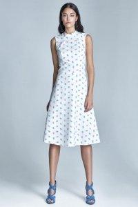 Sukienka - ecru/róż - S70