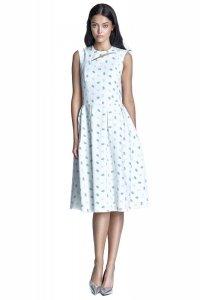 Sukienka midi - ecru/beż - S73