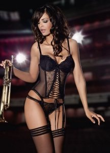 Brillante Fs-1319/41 stringi czarne
