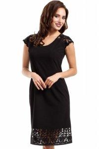 MOE273 sukienka czarna