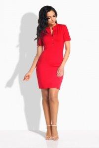 L191 sukienka z guziczkami czerwony