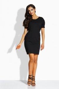 L206 sukienka z gumkami czarny