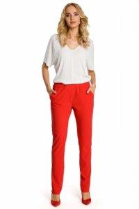 M351 Spodnie z lampasem czerewone