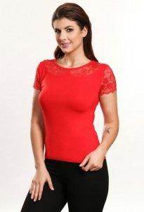 Cleo czerwony bluzka