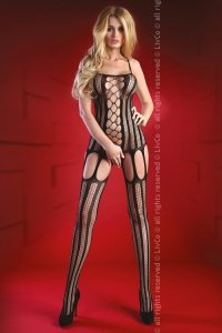 Almas Black LC 17132 bodystocking czarne