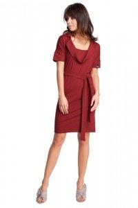 B010 sukienka bordowa