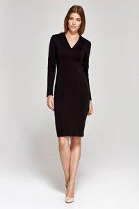 Sukienka z dekoltem w literę V - czarny - CS12