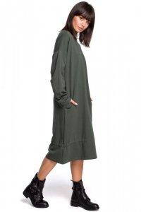 B100 Sukienka z tunelem na dole - khaki