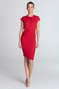 Sukienka ołówkowa - czerwony - S115