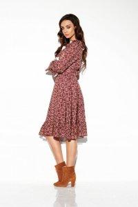 Sukienka ze sznurowanym dekoltem wzory LG505 druk 7