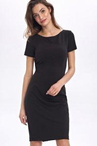 Dopasowana, ołówkowa sukienka - czarny - CS48