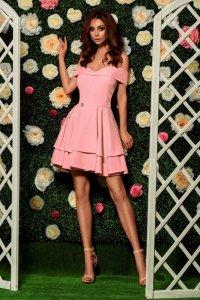 1 Sukienka  L258 pudrowy róż PROMO