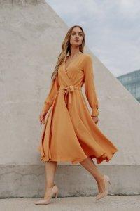 Sukienka L392A kamel
