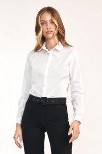 Taliowana biała koszula - K61