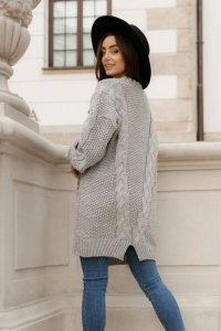 Sweter LS353 szary