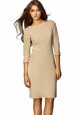 Sukienka  - beż - S30