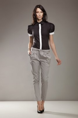 Spodnie 7/8 - szary - SD01