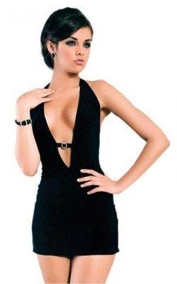Marika - black 1531 sukienka
