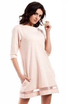 MOE219 Sukienka brzoskwiniowa