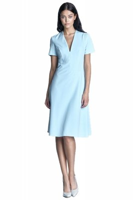 Sukienka - błękit - S71
