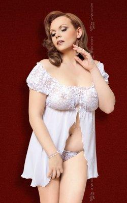 xJosephine - Plus Size - white 1423 koszulka i stringi