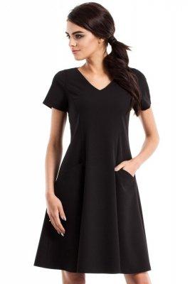 MOE233 Sukienka czarna
