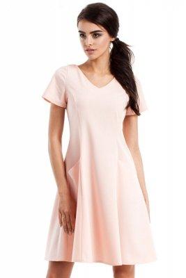 MOE233 Sukienka pudrowa