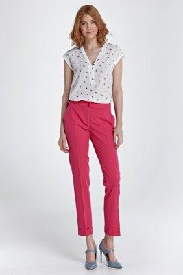 Spodnie z mankietami - fuksja - SD27