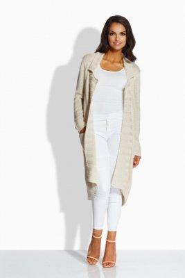 LS186  sweterek płaszczyk beżowy