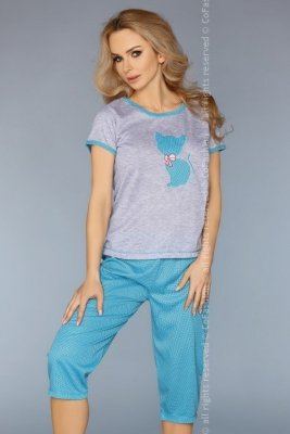 MODEL 718 TURQUOISE piżama