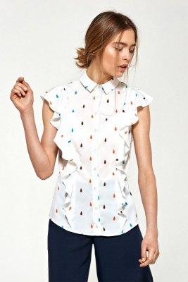 Bluzka z krótkim rękawem i falbanami - łezki - B88