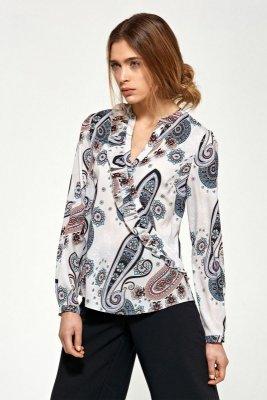 Bluzka z asymetrycznymi falbanami - wzór - B89