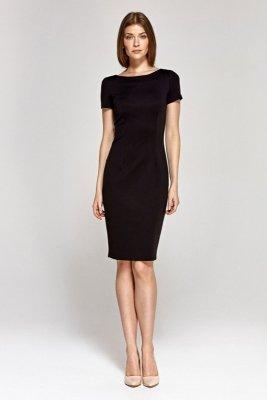 Sukienka z krótkim rękawem - czarny - CS11