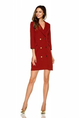 Garniturowa sukienka mini L278 bordo