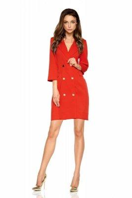 Garniturowa sukienka mini L278 czerwony