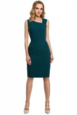 M397 Sukienka ołówkowa - zielona