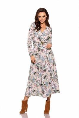 Modna sukienka midi L286 pantofelki