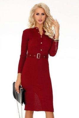 Anselmi Wine Red FX1746 sukienka swetrowa