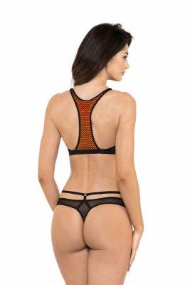 Kylie/S stringi czarno-pomarańczowy