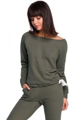 B108 Bluza z wiązaniem - khaki