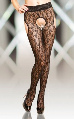 1 Crotchless Tights 5505 - black PROMO